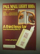 1979 Pall Mall Light 100's Cigarettes Ad