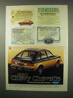 1980 Chevy Chevette Car Ad - Standards