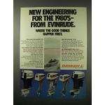 1979 Evinrude Outboard Motors Ad - New Engineering