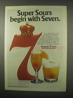 1979 Seagram's 7 Crown Whiskey Ad - Super Sours