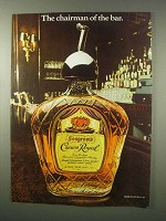 1979 Seagram's Crown Royal Whisky Ad - Chairman of bar
