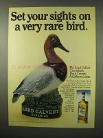 1979 Lord Calvert Whisky Ad - Canvasback Duck Ceramic