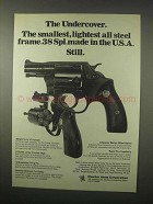 1979 Charter Arms Undercover Revolver Ad - Smallest