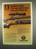 1979 Golden Eagle Model 5000 Shotgun, 7000 Rifle Ad