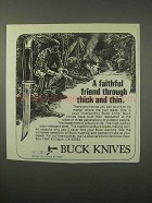 1979 Buck Knives Ad - A Faithful Friend Think and Thin
