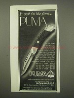 1979 Puma 200 Series Knife Ad - Invest in the Finest