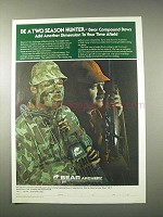 1978 Bear Archery Compound Bows Ad - Two Season