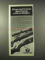 1978 Golden Eagle Ad - 7000 Rifle and 5000 Shotgun