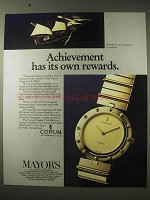 1984 Corum Clipper Club Watch Ad - Its Own Rewards