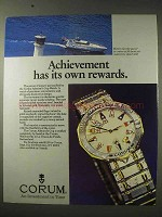 1984 Corum Admiral's Cup Watch Ad - Its Own Rewards