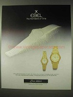 1984 Ebel 18 kt. Gold with Diamonds Watches Ad