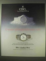1984 Ebel The Ultimate Chronograph Watch Ad
