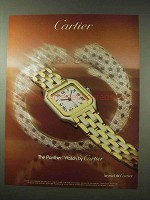 1984 Cartier Panther Watch Ad