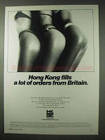 1984 Hong Kong Ad - Fills A Lot of Orders from Britain