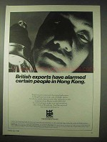 1984 Hong Kong Ad - British Exports Have Alarmed