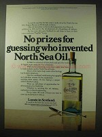1984 Scotland Ad - Invented North Sea Oil