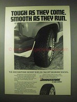 1984 Bridgestone Desert Dueler Tires Ad - Tough