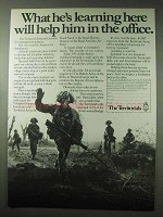 1984 UK Territorial Army Ad - Will Help in the Office