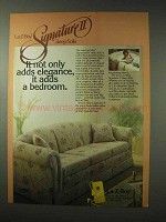 1984 La-Z-Boy Signature II Sleep Sofa Ad - Adds Bedroom