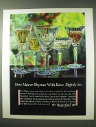 1984 Waterford Maeve Crystal Ad - Rhymes with Rave