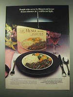 1984 Swanson Le Menu Frozen Dinners Ad - Different