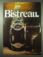 1984 Perrier Mineral Water Ad - Bistreau
