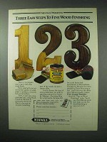 1984 Minwax Wood Finish Ad - Easy Fine Wood Finishing