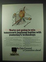 1984 Data General Computer Systems Ad - Win Battles