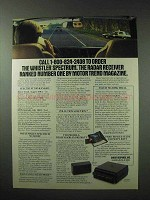 1984 Whistler Spectrum Radar Detector Ad - Number One