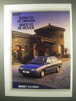 1984 Rover 200 Series Car Ad - Born to Be Driven