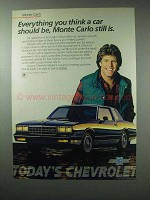 1984 Chevy Monte Carlo Car Ad - Everything You Think
