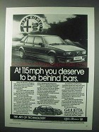 1984 Alfa Romeo Giulietta Car Ad - Be Behind Bars