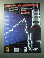 1984 Motorcraft Spark Plugs Ad - Hot Tip Better Mileage