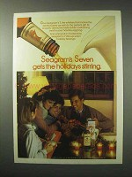1984 Seagram's Seven Crown Whiskey Ad - Holidays