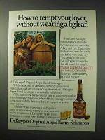1984 DeKuyper Apple Barrel Schnapps Ad - Tempt Lover
