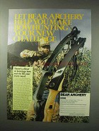 1984 Bear Archery Ad - Bowhunting Your New Challenge