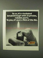 1984 Bic Cigarette Lighter Ad - Technical Breakthrough