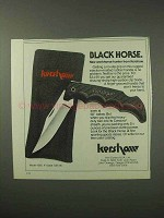 1984 Kershaw Black Horse Knife Ad - Workhorse Hunter