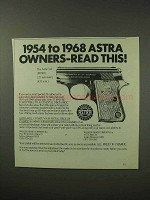 1984 Astra Cub Pistol Ad - 1954-1968 Astra Owners