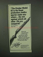 1984 Kimber Model 82 Rifle Ad - Finest Rimfire Sporter