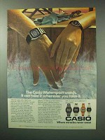 1983 Casio DW-1000C, LW601C Watersport Watch Ad