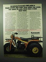1983 Kawasaki KLT250C Prairie Three-Wheeler ATV Ad