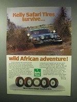 1983 Kelly Safari Tires Ad - Survive African Adventure