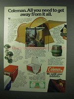 1983 Coleman Ad - Lanterns, Snow-Lite Coolers, Stove