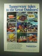 1983 Tupperware Containers Ad - The Great Outdoors