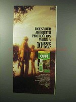 1983 Deep Woods Off! Insect Repellent Ad - 10 Hour Day