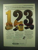 1983 Minwax Wood Finish Ad - Three Easy Steps