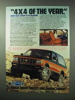 1983 Chevy S-10 Blazer Truck Ad - 4x4 of the Year