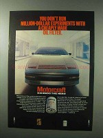 1983 Motorcraft Oil Filter Ad - Run Experiments