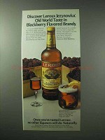 1983 Leroux Jezynowka Blackberry Flavored Brandy Ad